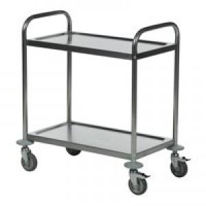 Image for 2 Shelf Trolley 600X400 Slv (1)