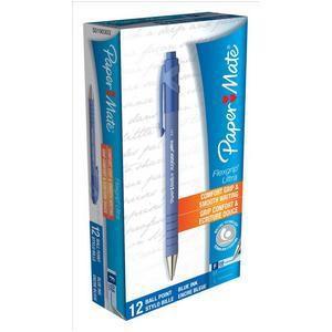 PaperMate Flexgrip Retractable Ball Pen Fine 0.8mm Tip 0.3mm Line Blue Code S0190303