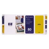 HP No.80 Printhead and Cleaner Yellow Code C4823A