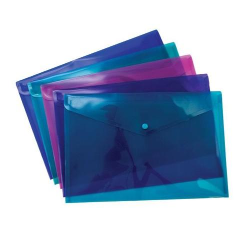 Pukka Stud Wallet File Vibrant Polypropylene Foolscap Blue Pack 5