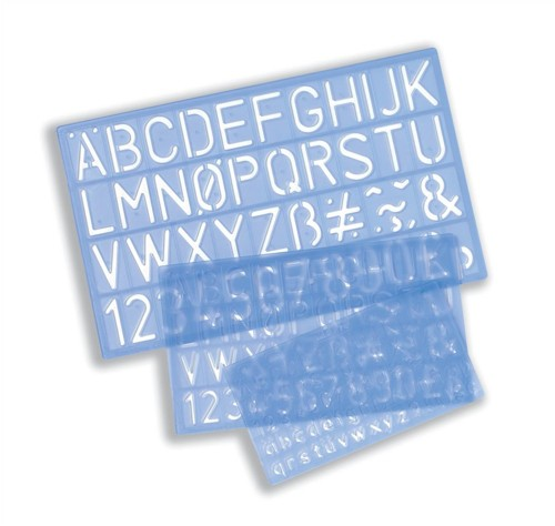 Helix Stencil Pack of of Letters Numbers and £/p Symbols 10mm 20mm 30mm Ref H90100