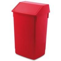Addis 54 Litre Flip Top Composite Plastic Bin Red Code 510800