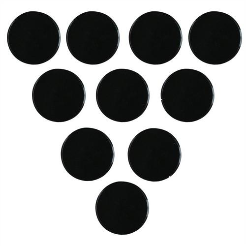 Nobo Magnetic Markers 25mm Diameter Black Code 1901018