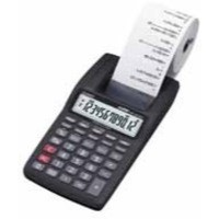 Image for Casio Mini-Print Calculator 12-digit Black HR-8TEC-W-E