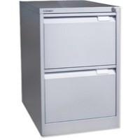 Image for Bisley BS2E Filing Cabinet 2-Drawer H711mm Goose Grey Ref BS2E-73