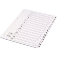 Concord Classic Index Mylar-reinforced Punched 4 Holes 1-15 A4 White Ref 01401/CS14