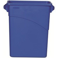 Slim Jim 60L Recycle Logo Bin 3541-73BLU