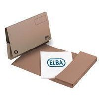 Elba Document Wallet Full Flap 285gsm Capacity 32mm Foolscap Buff