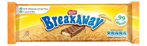 Nestle Breakaway Milk Chocolate Biscuit Individually Wrapped 8 Pack