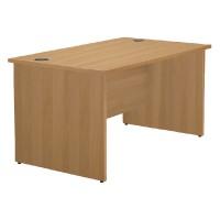 Image for Jemini Oak 1200mm Panel End Rect Desk