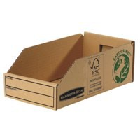 Image for Fellowes Basics Parts Bin Corrugated Fibreboard Packed Flat W147xD280xH102mm Ref 07354 [Pack 50]