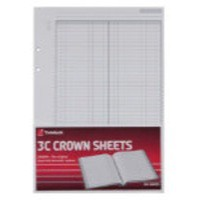 Image for Crown 3C F1 Double Ledger Refill Pk100