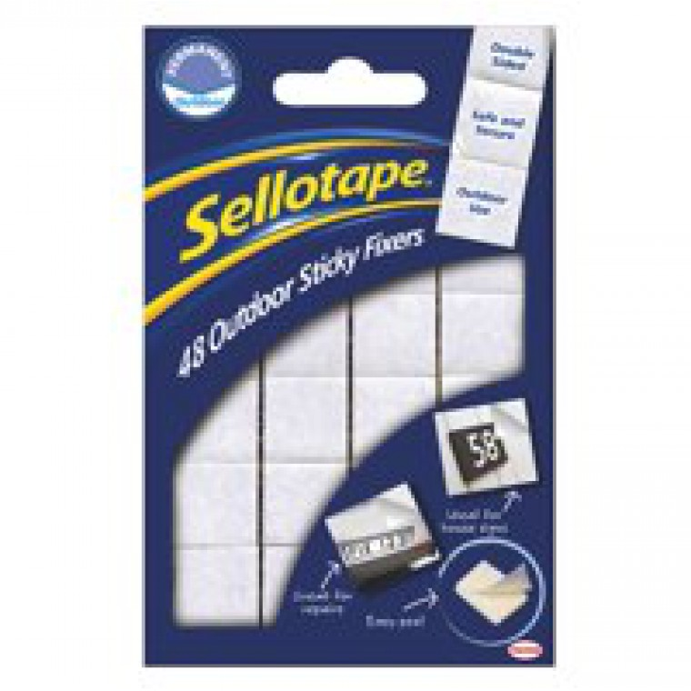 Sellotape Outdoor Sticky Fixers Code 1445421