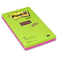 Image for 3M Post-it Super Sticky Note 124x200mm Ultra Colours Pack of 2 5845-SSEU