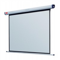 Image for Nobo Projection Screen Electric Wall-mounted Rolling IR Remote 2000mm Diagonal Matt White Ref 1901971