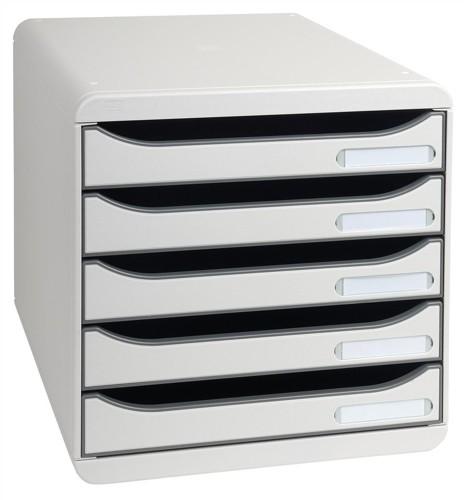 Multiform Big Box Plus Drawer Set Plastic 5 Drawers each H43mm A4plus Light Grey Code 309740D