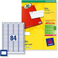 Avery Mini Labels Laser 84 per Sheet 46x11.1mm White Code L7656-100