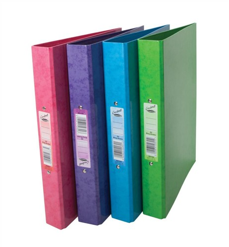 Concord Contrast Ring Binder Laminated O-Ring And Dividers Capacity 25mm A4 Raspberry Code 82201