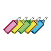 Image for 5 Star Facilities Key Hanger Sliding with Fob Label Area 25x20mm Small Tag 45x28mm Assorted [Pack 100]