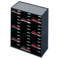 Image for Paperflow Modulodoc Mailsorter Plastic Stackable 36x A4 Compartments W674xD308xH791mm Black Ref 80301