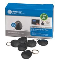 Safescan Key Fobs Pack RF-110 Radio Frequency Identification Code 125-0342