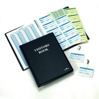 Image for Durable Visitors Book Leather Look 100 Badge Inserts 80gsm W90xH60mm Ref 1463-00