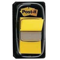 Image for Post-it Index Flags 50 per Pack 25mm Yellow Ref 680-5 [Pack 12]