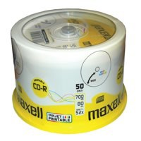 Image for Imation CD-R Recordable Disk Write Once Spindle Printable 52x Speed 80Min 700MB Ref i17304 [Pack 50]