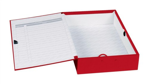 Concord Classic Box File Paper-Lock Finger-Pull And Catch 75mm Spine Foolscap Red Code C1279