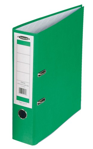 Concord Classic Lever Arch File With 5-Part Dividers 70mm Spine A4 Green Code C214042