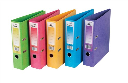 Concord Contrast Lever Arch File Laminated 5-Part Dividers 70mm Spine A4 Assorted Code 214710