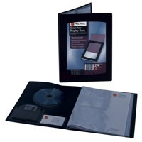 Rexel Clearview Display Book 24 Pockets A4 Black Ref 10320BK