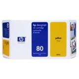 HP No.80 Inket Cartridge 175ml Yellow Code C4873A