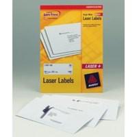 Avery Laser Labels 99.1x93.1mm 6 Per Sheet White 600 Labels FSC Code L7166-100