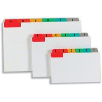 Image for Guide Cards Reinforced A-Z 127x76mm White with Tabs Multicoloured