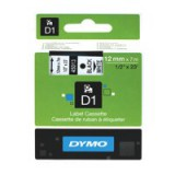 Dymo D1 Tape for Electronic Labelmakers 12mmx7m Black on White Code S0720530