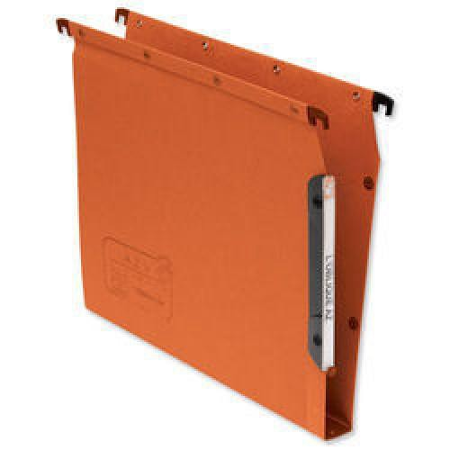 Elba A4 Lateral File AZV 30mm Base Orange Box 25