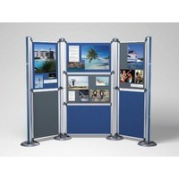 Image for Nobo Modular Display System Panel Large with Brackets W1228xD885xH12mm Blue Grey Ref 1902218