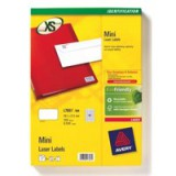 Avery Mini Laser Labels 38.1x21.2mm 65 Per Sheet White 1625 Labels FSC Code L7651-25