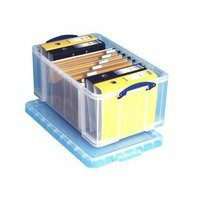 Really Useful Storage Box Plastic Lightweight Robust Stackable 64 Litre 440x710x310mm Clear Code 64C