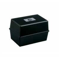 Image for 5 Star Card Index Box Capacity 250 Cards 6x4in 152x102mm Black