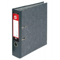 Image for 5 Star Lever Arch File 70mm A4 Cloudy Grey [Pack 10]