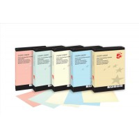 Image for 5 Star Coloured Copier Paper Multifunctional Ream-Wrapped 80gsm A4 Cream [500 Sheets]