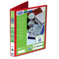 Image for Elba Presentation Ring Binder PVC 4 D-Ring 25mm Capacity A4 Red Ref 400008506 [Pack 6]