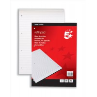 Image for 5 Star Refill Pad Headbound Feint Ruled 60gsm 4-Hole Punched 80 Sheets A4 [Pack 10]