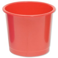 Image for 5 Star Plastic Waste Bin Red