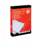 5 Star Copier Paper Multifunctional Ream-Wrapped 80gsm A4 White [500 Sheets]