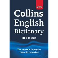 Collins Gem English Dictionary with Colour Headwords in Vinyl Cover Ref 9780007290338