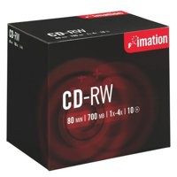 Image for Imation CD-RW 700Mb/80minutes 1X-4X in Jewel Case Pack of 10 i19001