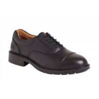 Image for Sterling Steel Oxford Shoes Steel-toe Shock-absorbent Chemical-resist Leather Size 12 Black Ref SS50112